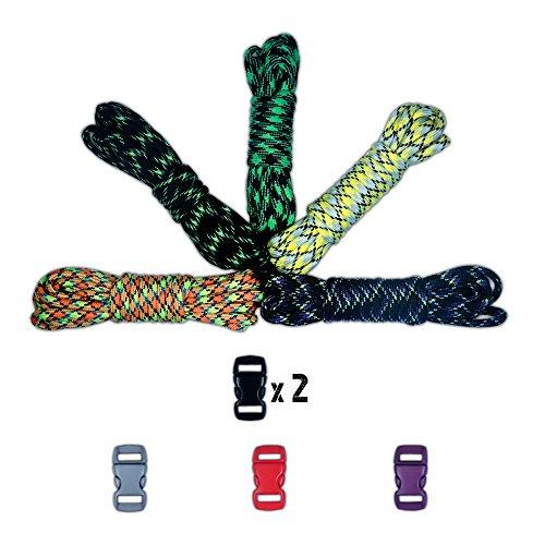 Just for Kids 550 Paracord kits de artesanato com fivelas – Várias opções de tema, Walking Dead, 1
