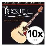 Rocktile cuerdas para guitarra acústica ligeras pack de 10
