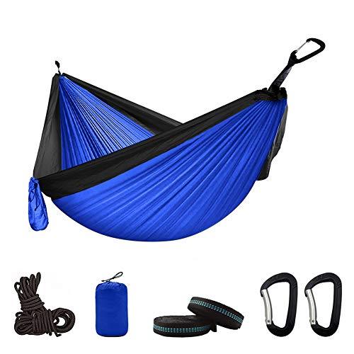 Doppelte Hängematte, Outdoor- / Innenmöbel für Erwachsene Camping Fallschirmrucksack Travel Survival Hunting Schlafen Tragbares Hängebett,A