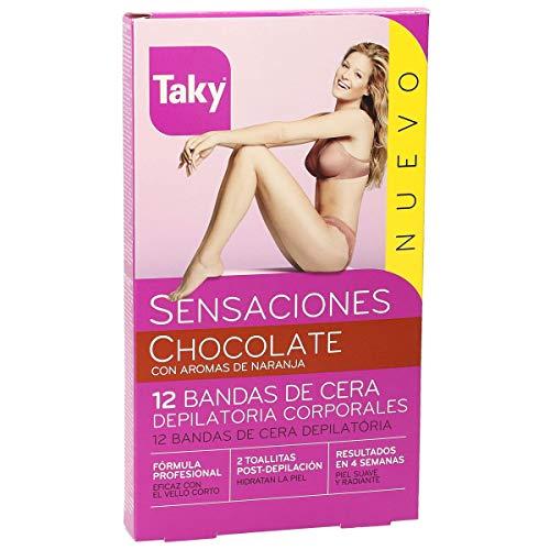 Taky Chocolate Bandas De Cera Corporales Depilatorias 12 + 8 Uds 1 Unidad 200 g