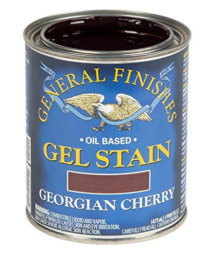 General Finishes Oil Base Gel Stain, 1 Pint, Georgian Cherry