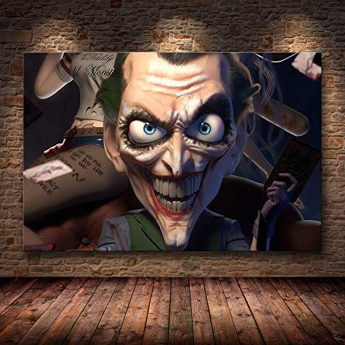 SDFSD Hollywood Joaquin Phoenix Posters Posters Joker Posters Film Comic Art Canvas Pintura al óleo Cuadros de Pared para Sala de Estar decoración del hogar 60x90cm