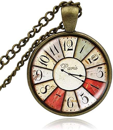 niuziyanfa Co.,ltd Vintage Glas Eule Uhr Taschenuhr Cabochon Halskette Anhänger Schmuck Mann Frauen Handmade Craft DIY Halsketten