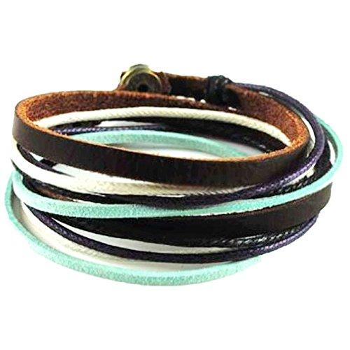 Original Tribe Cuero suave multicolor Cuerdas mujeres cubren la pulsera de las...