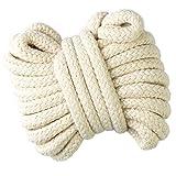 Gouert cordoncino intrecciato, 10 mm, colore: bianco grezzo