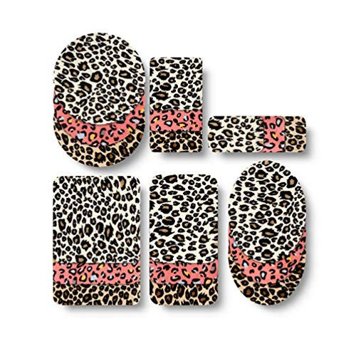 Qlychee 18Pcs Iron On Sew On Patches Leopard Print Rectangle Square val