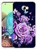 Sunrive Funda Compatible con Huawei Y5 II, Sunrive Silicona Slim Fit Gel Transparente Carcasa Case Bumper de Impactos y Anti-Arañazos Espalda Cover(X Mariposas y Rosas)