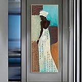 Gymqian Póster e Impresiones de Lienzo de Arte de Pared de África Vintage, Pintura artística de Mujer Negra, Pasillo, Sala...