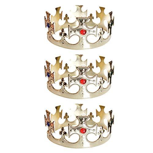 Corona de Rey Cruces Dorada Pack 3 uds (Rey Mago Navidad)