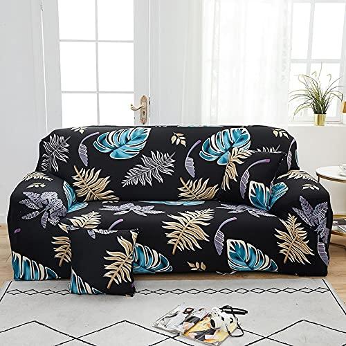 WXQY Funda de sofá de celosía Cuadrada Funda Protectora de Muebles de Sala de Estar Funda Protectora de sofá elástica a Prueba de Polvo A19 2 plazas