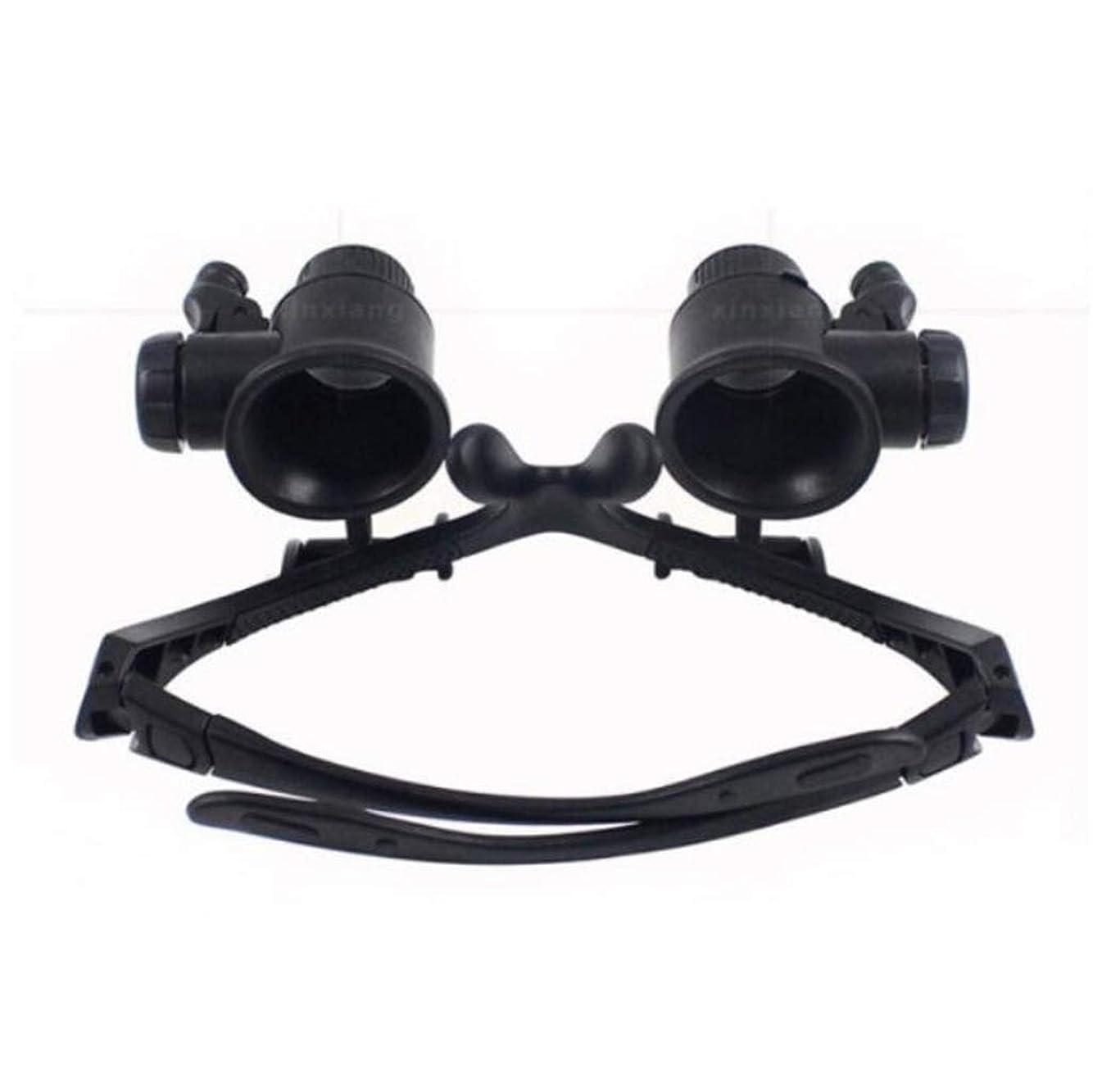 キャッチ開いたポンドBZM-ZM 拡大鏡高精細高精細レンズ時計の修復ジェイドスタンプ同定のハイ?デフィニションメガネ拡大鏡付きライト4セットを身に着けている25タイムズ