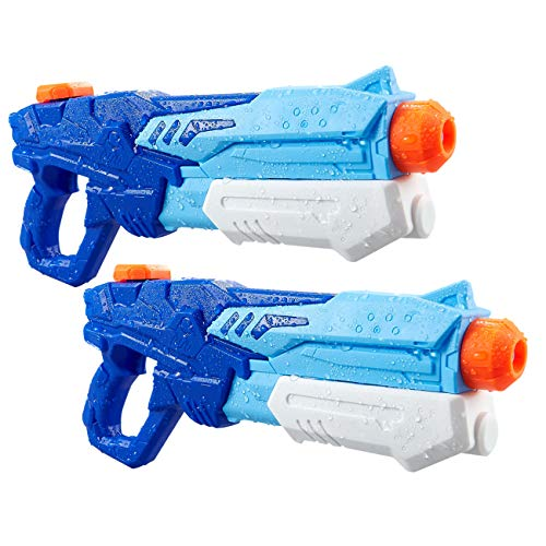 Water Blaster Squirt Guns Toys - 2 Pack 600cc High Capacity Water Outdoor Fighting Toy in Summer Swimming Pool and Beach Party for Kids Adults Boys and Girls