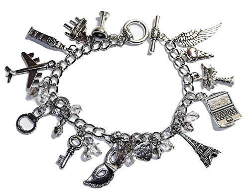 Point Central Collectibles 50 Shades of Grey 12 Assorted Themed Charms Charm Bracelet