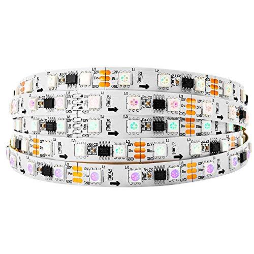 BTF-LIGHTING WS2811 5M 60 LEDs/m 300LEDs RGB DC12V adressierbare Streifen mit 5050 SMD LEDs NichtWasserdicht IP30