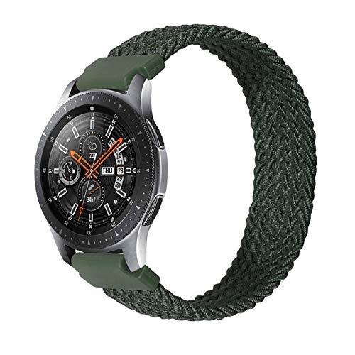 BAAIFC Correa trenzada de nailon de 20 mm, 22 mm, para Galaxy Watch 3, 41 mm, 45 mm, para Gear S3 Classic para Amazfit Gts/GTR (color: verde, tamaño: 20 mm-XL tamaño 155 m)