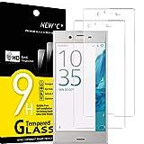 NEW'C 2 Unidades, Protector de Pantalla para Sony Xperia XZ, Antiarañazos, Antihuellas, Sin Burbujas, Dureza 9H, 0.33 mm Ultra Transparente, Vidrio Templado Ultra Resistente