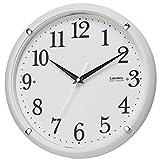 ランデックス(Landex) 掛け時計 電波 アナログ 32.5cm トキテラス 夜間秒針停止 常時点灯 ホワイト YW9146WH