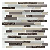 Art3d 10-Piece Stick on Backsplash Tile for Kitchen, 12' x 12' Vinyl Decorative Tiles
