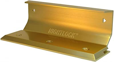 Nightlock Security Lock Door Barricade Bright Brass Finish