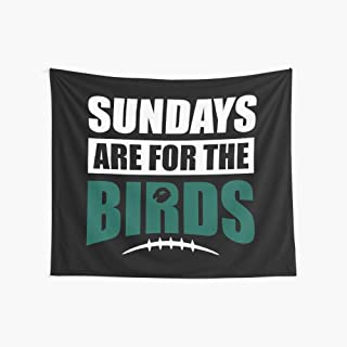 Noick Sundays are for The Birds 3D Boutique Wall Tapestry Pop Art Retro Micro Microfiber Peach Peach Home Decoration 59.1X51.2 in