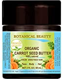 ORGANIC CARROT SEED OIL – BUTTER RAW. 100% Natural/VIRGIN/UNREFINED. 2 Fl oz - 60 ml. For Skin, Hair, Lip and Nail Care.