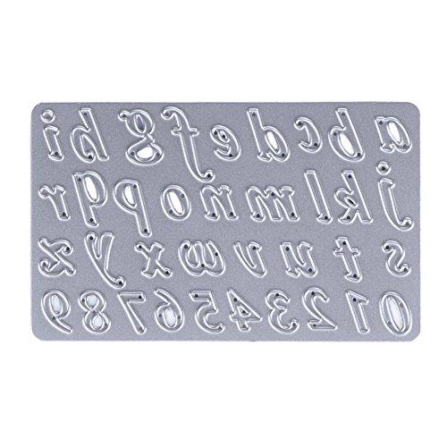 Demiawaking 1Pcs Metall Buchstabe Form Schneiden Schablonen DIY Sammelalbum Dekor Papier Karten, Metall Buchzeichen, Metall Lesezeichen als Geschenk Fuer Freunde (Nummer)