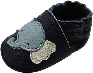 YIHAKIDS Chaussures Bébé Filles Garçons Cuir Souple Bébé Enfant Chaussons Cuir Doux Chaussures Fille Garçon Premiers Pas ...