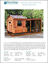 Backyard Chicken Coop Plans with Kennel / Run, Salbox / Lean-to 4 ft x 10 ft Two-in-One Plans , Design 60410SL