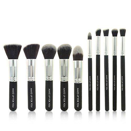 TYJKL Brosse Multifonctions Maquillage Maquillage Brosse de Brosse cosmétiques 10 en 1 Outils De Maquillage Professionnels (Color : Black)