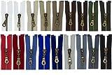 FIM SONDERLÄNGEN 31cm - 59cm Reißverschluss Metall Nr. 5 mittelgrob Brüniert Teilbar für Jacken, 1 - schwarz (322), 42cm