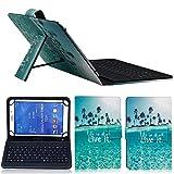 RZL PAD & TAB Étuis pour Samsung Galaxy Tab E Lite 7' 8' Cuir imprimé à rabat avec support et...
