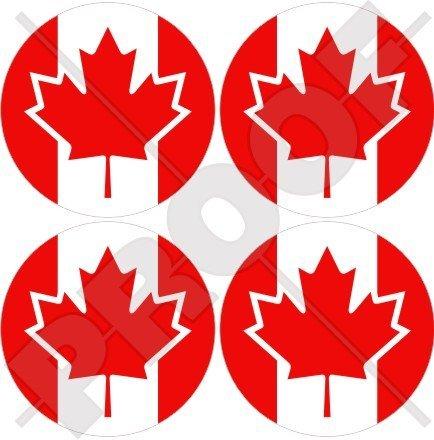 Canada Canadien 50 mm (5,1 cm) bumper-helmet en vinyle autocollants, Stickers x4