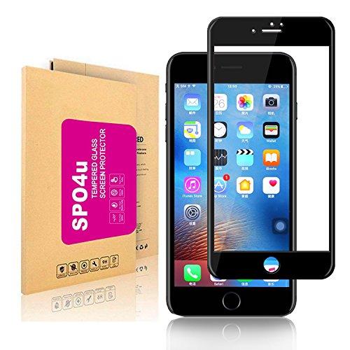 iPhone 7 Plus Screen Protector, SPO4u 3D Full Coverage Ultra High Clear 9H Anti-Scratch, Anti-Fingerprint, Anti-Bubbles for iPhone 7 Plus Black