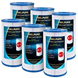 POOLPURE Replacement Filter for Type A or C, Compatible with Intex 29000E/59900E, Easy Set Pool Filters, Summer Escapes or Summer Waves Above Ground Pools, Pack of 6