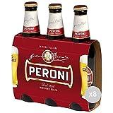 Peroni Set 8 Birra in Bottiglia 33x3 Vetro Bevanda alcolica da tavola, Multicolore, Unica