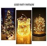 20 LED 2M FlaschenLicht Weinflasche Lichter korken Form 10 Pack Kupferdraht für Party Weihnachten Halloween Hochzeit - 8