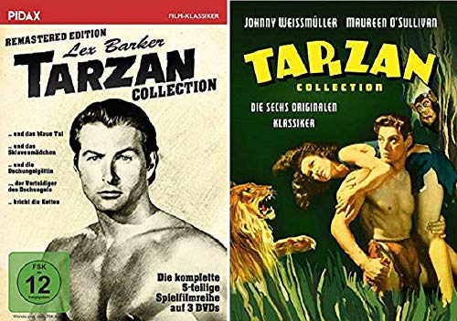 Tarzan Collection / Die Ultimative Tarzan Collection / Lex Barker vs. Johnny Weissmüller / 11 Filme [DVD Box Set]