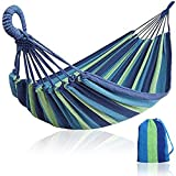 LJNH Single/Double <span class='highlight'>Outdoor</span> <span class='highlight'>Garden</span> Camping <span class='highlight'>Hammock</span> 260 * 100CM, Hanging <span class='highlight'>Hammock</span> Cotton Soft Swing Sleeping Portable with Carrying Bag for Travel, Beach, Backyard etc