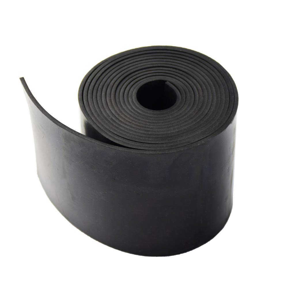 Black Leveling .125 Neoprene Rubber Strips Rolls 1//8 Supports Bumpers Flooring Abrasion Sealing Protection Thick X 4 Wide X 48 Long Solid Rubber Strips Use for Gaskets DIY Material