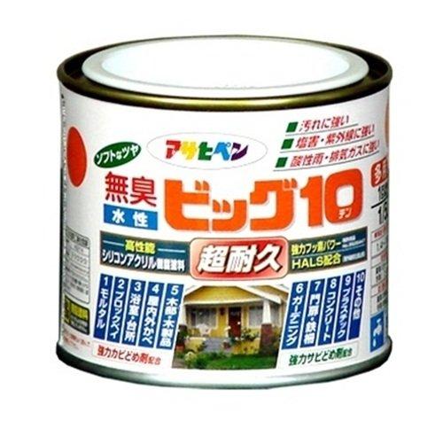 アサヒペン 無臭 水性ビッグ10 アイボリー 1/5L