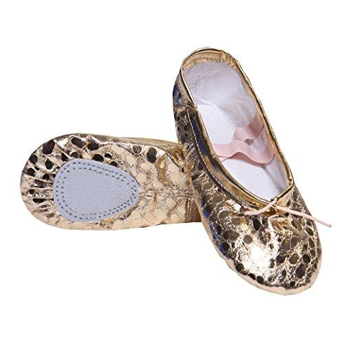 DoGeek Transpirable Zapatos Ballet Cuero Zapatillas
