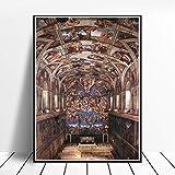 CNHNWJ Michelangelo Gemälde 《Innenraum der Sixtinischen