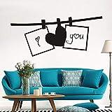 Creativo San Valentino Ti amo San Valentino Soggiorno Soggiorno Decorazione della casa Adesivi murali Murale A7 118x52cm