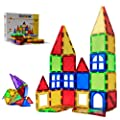 MAGBLOCK Magnetic Blocks - Magnetic Tiles for Kids - 3D Magnetic Building Blocks for Toddlers Building Blocks with Clear Color Educational Toys Set 32 Pieces by TUOXIANG