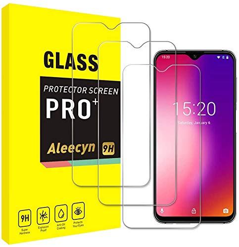 [3 unidades] Protector de pantalla de cristal blindado compatible con UMIDIGI ONE MAX, HD, dureza 9H, resistente a los arañazos, antihuellas, 2,5D, ultra transparente para UMIDIGI ONE MAX