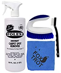 #1 Selling Carpet Spot Remover - Over 40 Years of Trusted Results Instant Carpet Spot Remover Kit - Includes 32 OZ Folex Spray Bottle - Iron Handle EZ Scrub - Mini Detail Brush - Professional Grade Microfiber Finishing Cloth Relax...You've Got Folex....