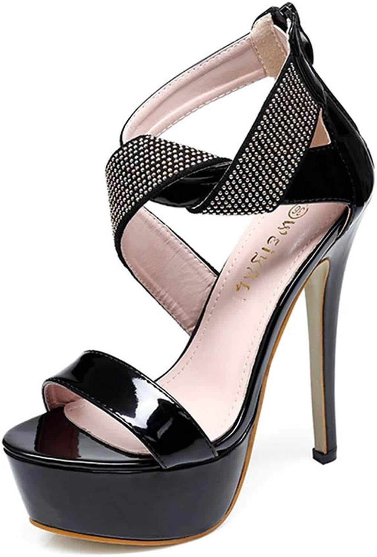 Women Extreme High Heels shoes,Ankle Strap Peep Toe Pumps Wedding Party Dress Stiletto Slip on Sandals Pole Dance shoes