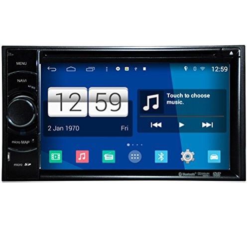 Generic Lecteur 2Din dans le tableau 800 480HD écran tactile capacitif Android 4.4.4 PC lecteur DVD de voiture universel pour GPS Wifi Bluetooth Fonction Radio Stéréo Auto multimédia USB Audio/AUX/Ipod RDS connexion Quad Core 14560100 S160 système 16 g