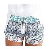 Aniywn Womens Shorts Summer Loose Bohemian Print Casual Elastic Hot Pants Comfort Beach Short Pants