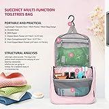 Mountaintop Kulturbeutel Kosmetiktasche Kulturtasche zum Aufhängen Toiletry Bag Waschtasche für Reise Urlaub, 24 x 9 x 19 cm (B – Pale Pink (L)) - 3